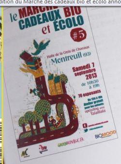 Marché bio et écolo à Montreuil