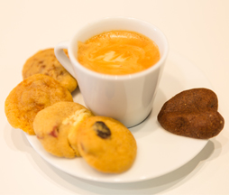 café gourmand et mini-cookies