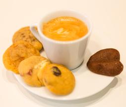 café gourmand et mini-cookies