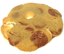 cookie chocolat lait caramel et chocolat blanc