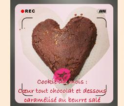 cookies tout chocolat coeur caramélisé