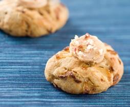 Cookies salés aux oignons confits