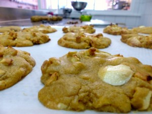 cookies pomme chocolat-blanc