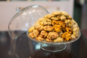 Présentation des cookies salés en vente - Paris 14 - rue didot