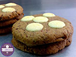 cookies aux framboises et chocolat blanc