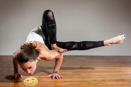 Séance de yoga de Elle sous le signe des Cookies Choco coco
