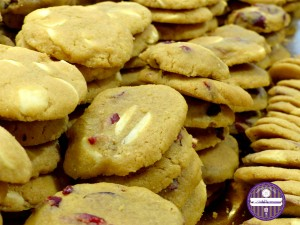 cookies chocolat blanc et cranberries