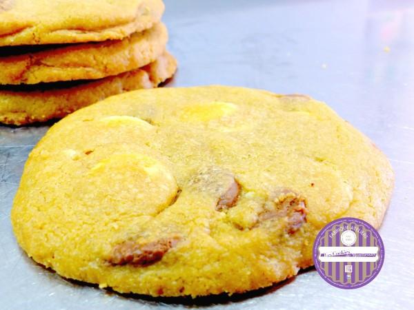 cookies chocolat blanc lait caramel