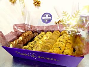 Buffet de mini cookies moelleux